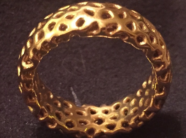 Cellular Ring Size 5 3d printed