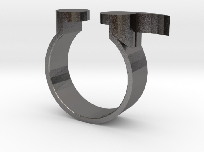 Semi Colon Ring Size 6 3d printed