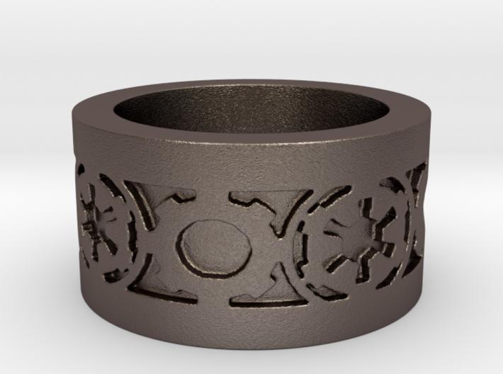 DarkSide Ring gamma Ring Size 9 3d printed