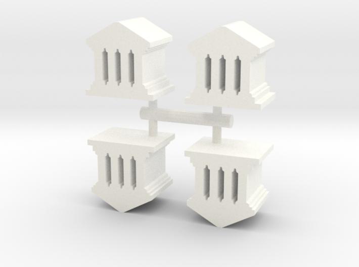 Game Piece, Roman Temple, 4-set 3d printed