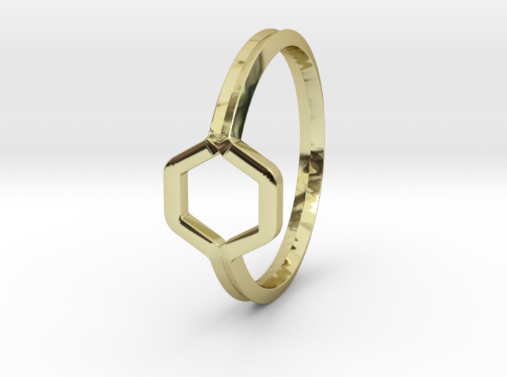 A-LINE Honey Ring H.02, US size 6, d=16,5mm 3d printed