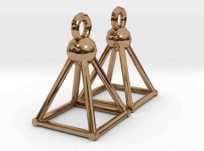 Piramid earrings 3d printed
