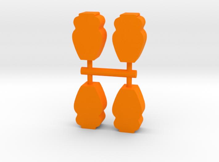 Game Piece, Ancient Vase 4-set 3d printed