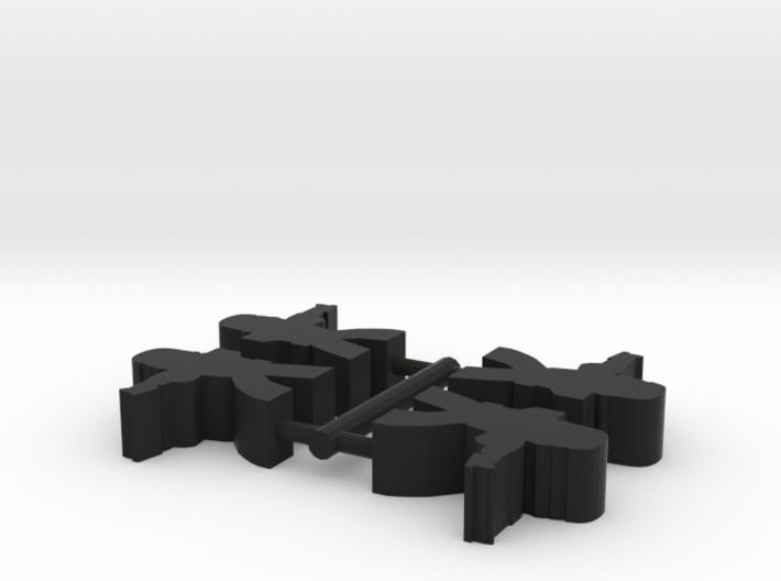 Game Piece, Dark Empire Trooper 4-set 3d printed