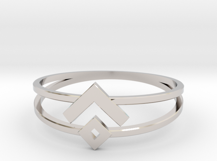 Space Oddity ring size 7.5 3d printed