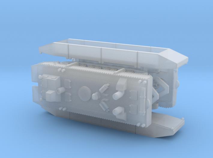 German Panzerfähre (Tank-Ferry) Full Hull 1/285 3d printed