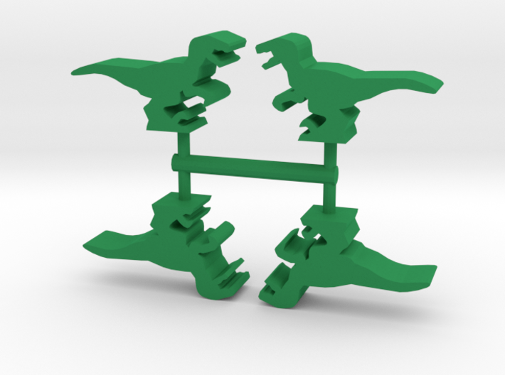 Game Piece, Velociraptor 4-set 3d printed