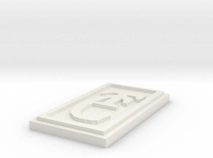 T. C, 's pendant version 9 3d printed