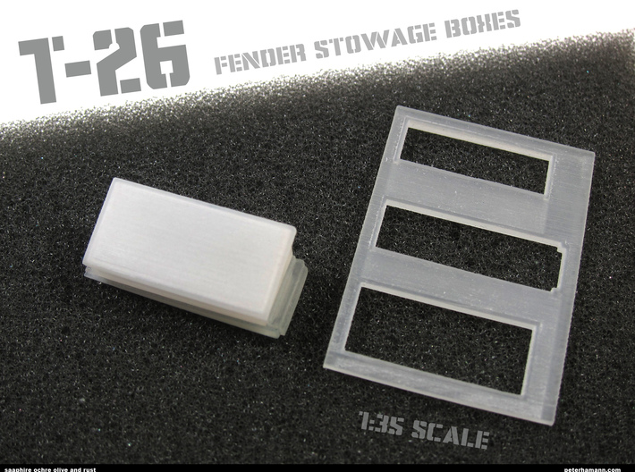 T-26 Fender Stowage Boxes (ONE BOX AND LID) 3d printed