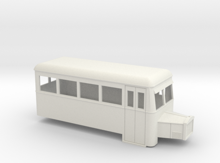 009 railbus single ended with bonnet (narrow type) 3d printed