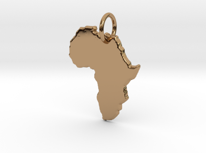 Africa country map Pendant 3d printed
