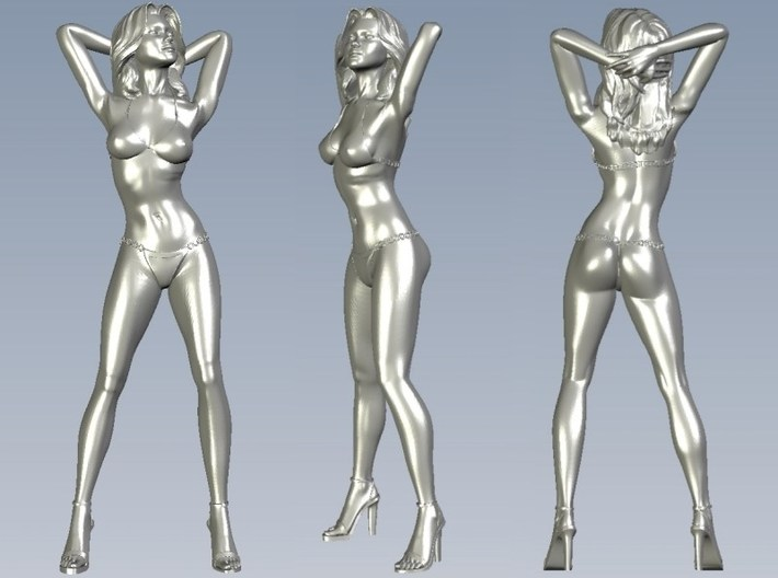 1/35 scale bikini beach girl posing figure A 3d printed