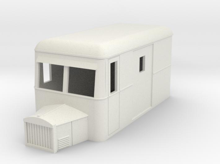 009 railbus parcel with bonnet ( narrow type) 3d printed