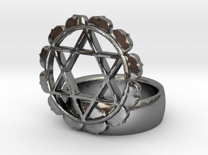4th Chakra Ring 3d printed