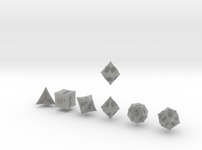 ELDRITCH POINTY Outies dice 3d printed