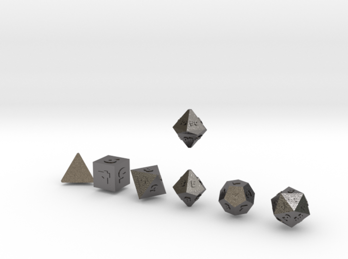 FUTURISTIC Outies Sharp dice 3d printed