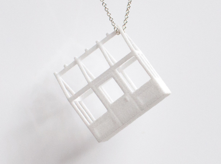 Greenhouse Model Pendant Necklace 3d printed