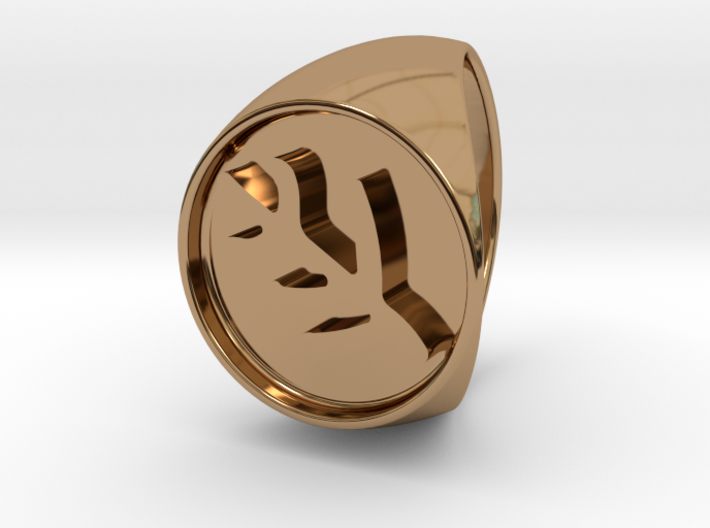 Classic Elder Sign Signet Ring Size 10 3d printed