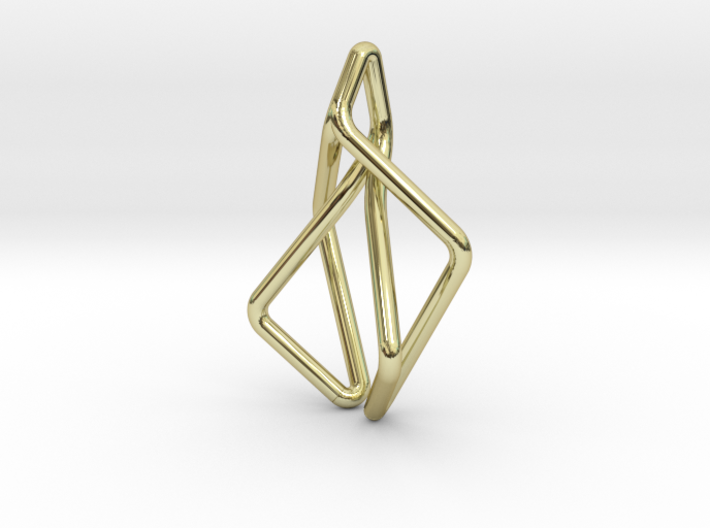 N-Line No.2 Pendant. Natural Chic 3d printed