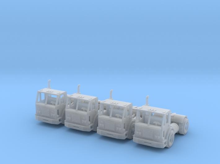 Peterbilt 320 Single Axle Z Scale 3d printed Peterbilt 320 Semi truck z scale