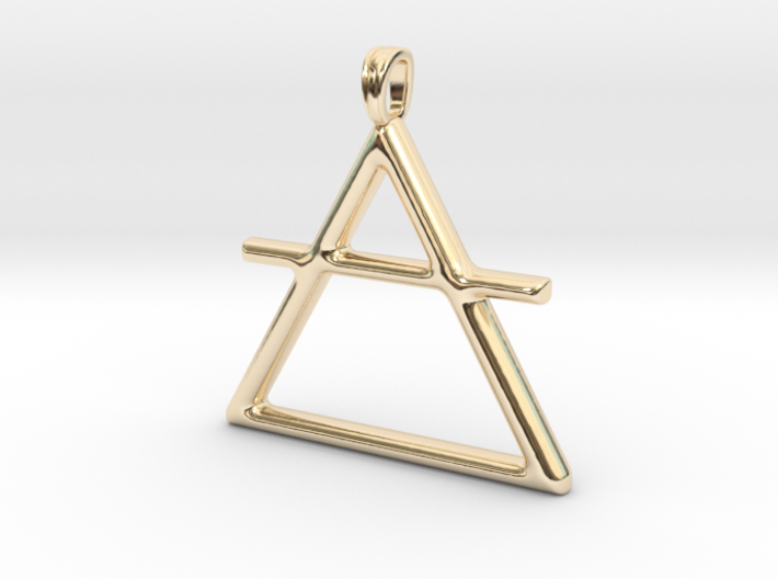 AIR Alchemy symbol Jewelry pendant 3d printed