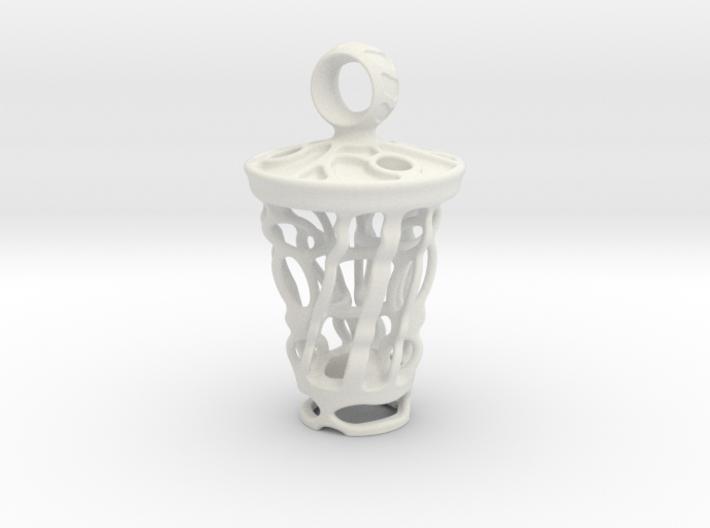 tritium: Witch Lantern vial pendant keyfob 3d printed