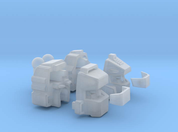 Impermanence Heads - Set Of Two - With TFP Wheelja 3d printed