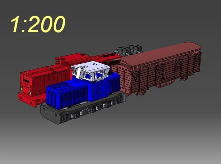 1:200 Fahrzeuge der DR im Maßstab 1:200 3d printed