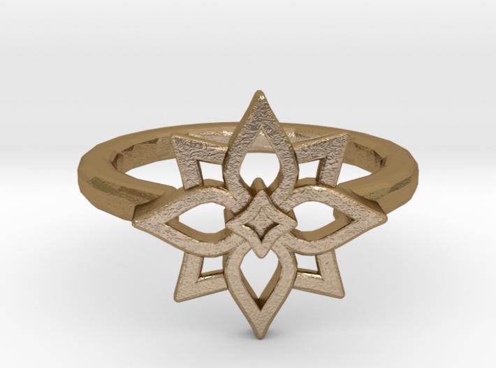"""Ring - """"Squarose"""" (D = 19 mm) 3d printed"""