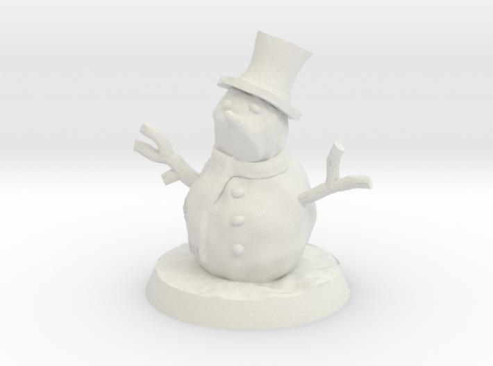 28mm/32mm Snowman 3d printed