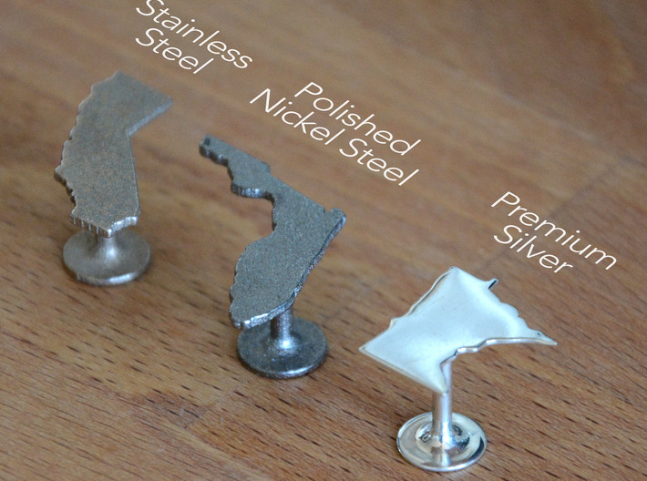 Tennessee State Cufflinks 3d printed