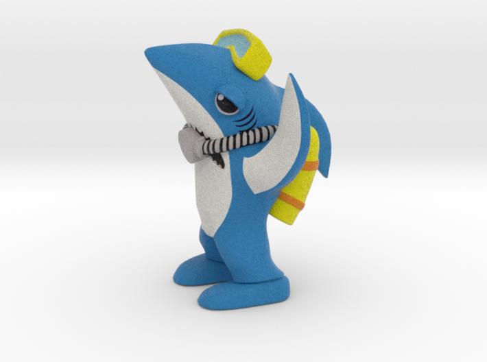 Scuba Left Shark 3d printed