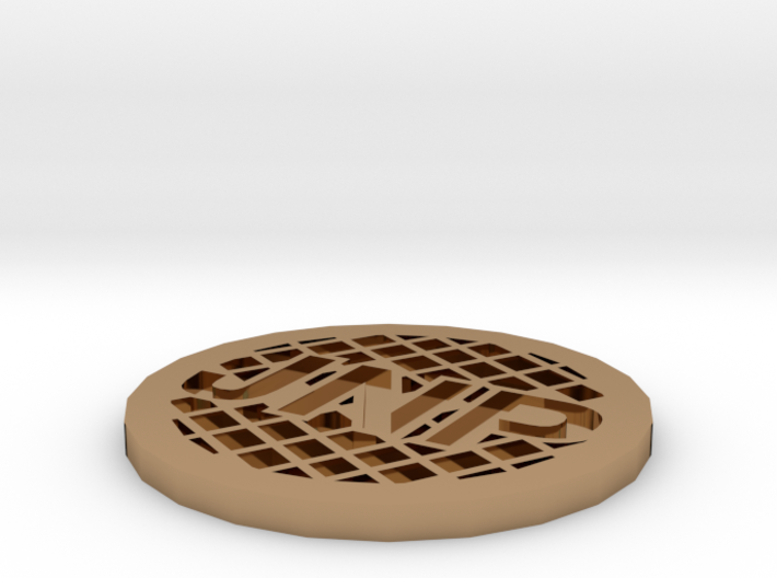 Personalized Golf Ball Marker 3d printed