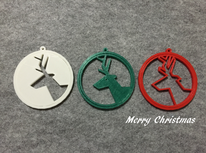 Deer ring 3 for Christmas 3d printed