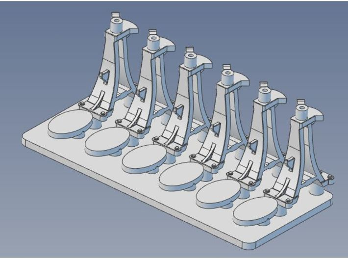 CPR Switchstand O Scale Set of 6 3d printed