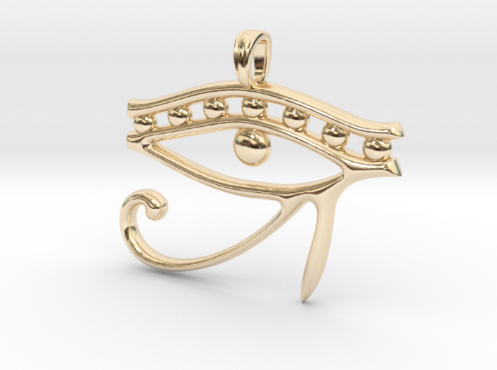 Eye of Horus Symbol Jewelry Pendant 3d printed