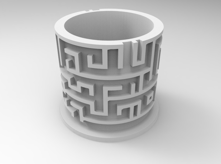 Maze Puzzle Bottom 3d printed