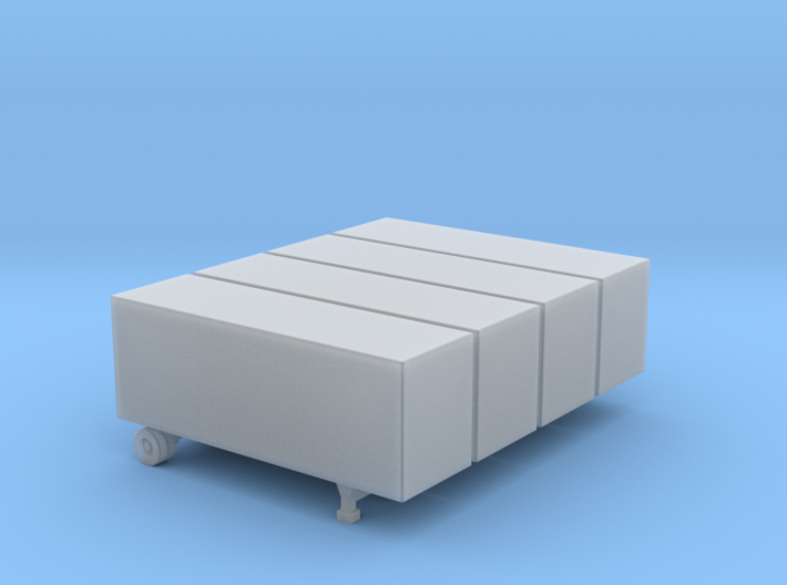 28 Foot Box Trailer - Set of 4 - Zscale 3d printed