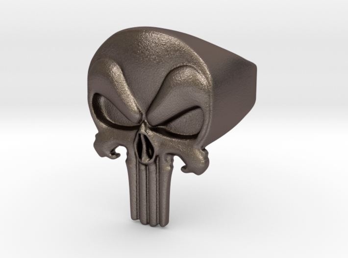 Punisher Bottle Opener Ring Size 12 3d printed