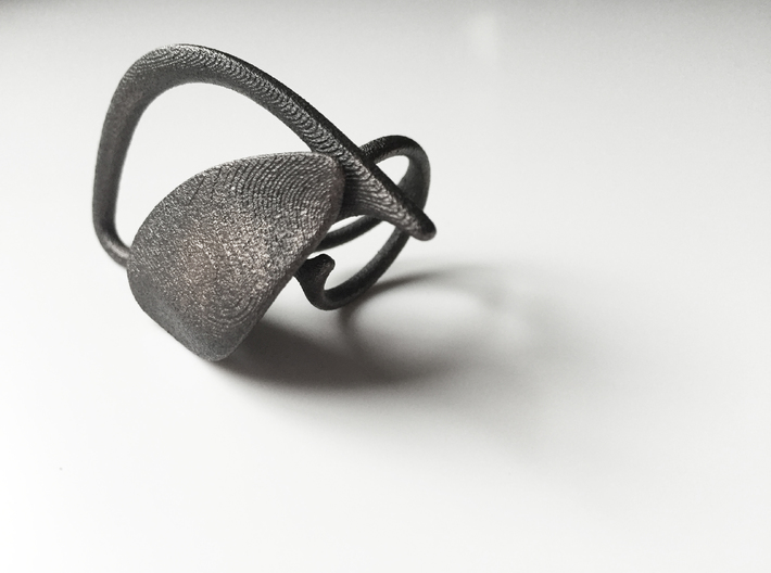 Thecla Ring L [7] 3d printed
