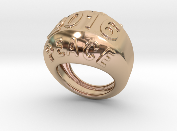2016 Ring Of Peace 16 - Italian Size 16 3d printed