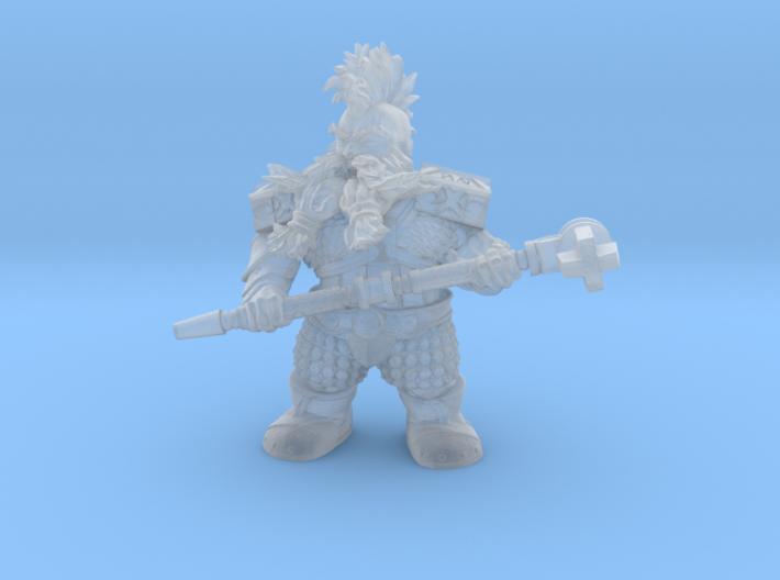 Mounted Dwarf Warrior 35mm (Mole Version) Nº 1 3d printed