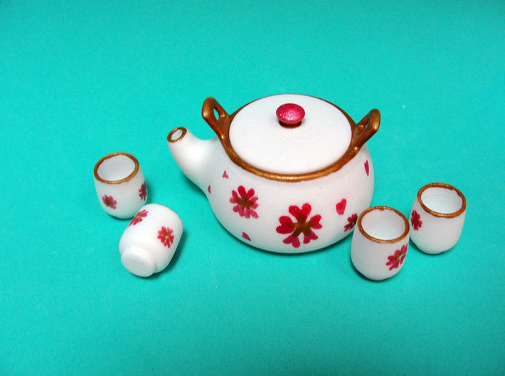 Msd Oriental Tea Set 005f 3d printed
