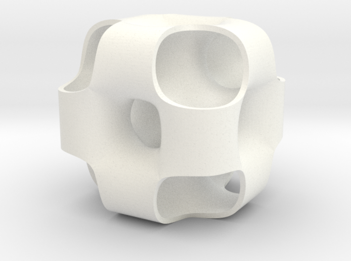 Ported Cube 3d printed