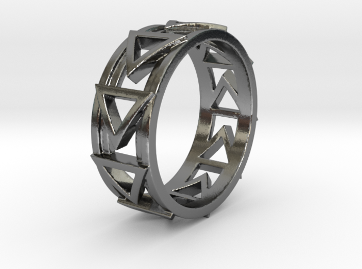 Dreiecklein Ring Size 10.5 3d printed