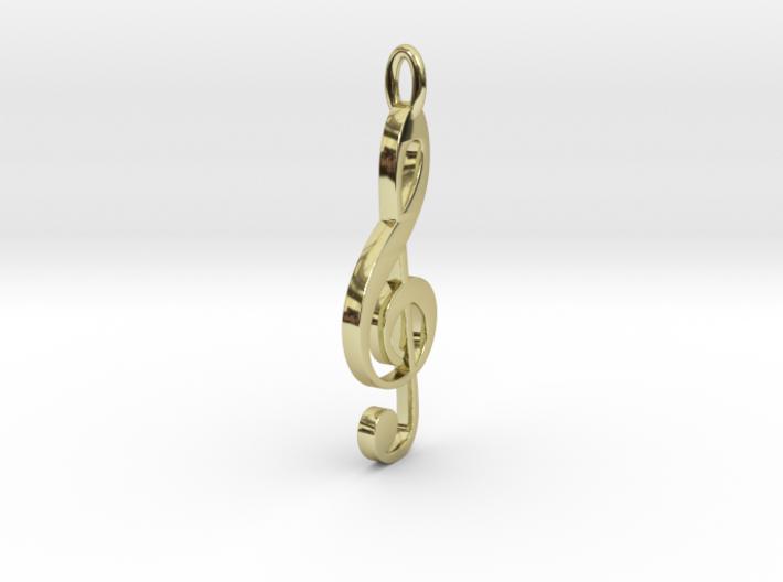 Treble Cle Necklace 3d printed