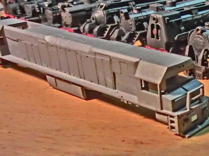"Toll Rail DK-2 Locomotive Proposal ""A"" 3d printed Printed in Frosted Ultra Detail"