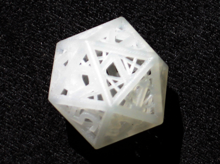 Woven Dice - Small 3d printed Twenty sided die.