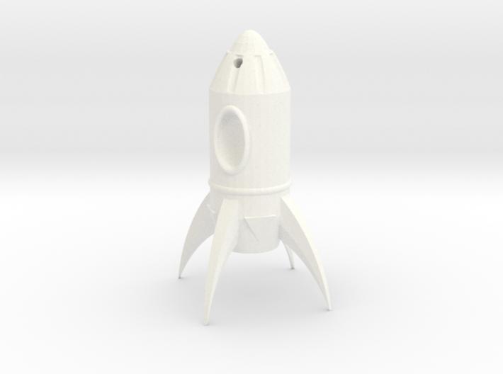 Fallout Rocket Keyring (Practical) 3d printed
