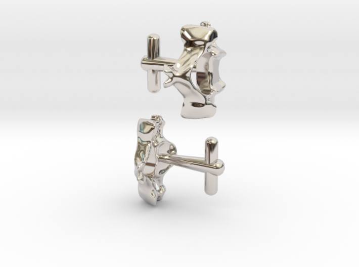 Anatomical Vertebrae C4 Cufflinks 3d printed